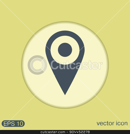 pin location on the map stock vector clipart, pin location on the map. local pin by LittleCuckoo