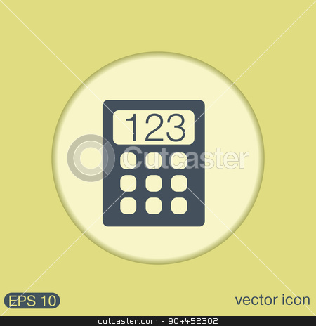 calculator stock vector clipart, calculator. office sign by LittleCuckoo