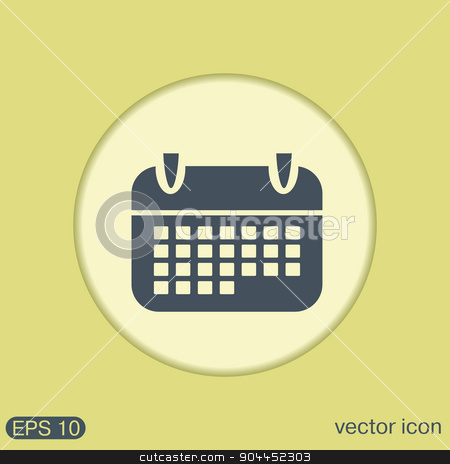 calendar stock vector clipart, calendar sign by LittleCuckoo