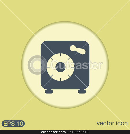 bank vault safe icon stock vector clipart, bank vault safe icon by LittleCuckoo