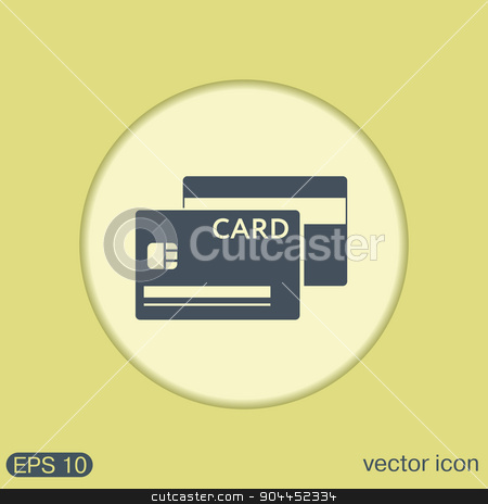 credit card stock vector clipart, credit card. by LittleCuckoo