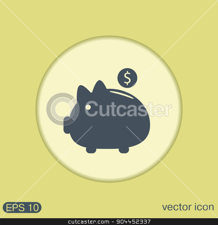 piggy bank. symbol of money stock vector clipart, piggy bank. symbol of money by LittleCuckoo