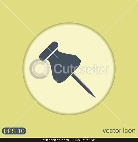 pin for papers. symbol icon office supplies stock vector clipart, pin for papers sign. symbol icon office supplies by LittleCuckoo