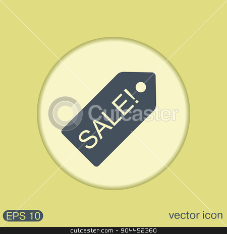 sale label. stock vector clipart, sale label sign sign. by LittleCuckoo
