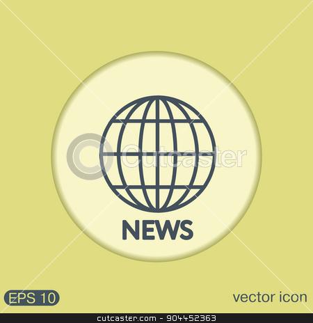 globe symbol. news. Symbol news. Icon globe planet stock vector clipart, globe symbol. news. Symbol news. Icon globe planet by LittleCuckoo