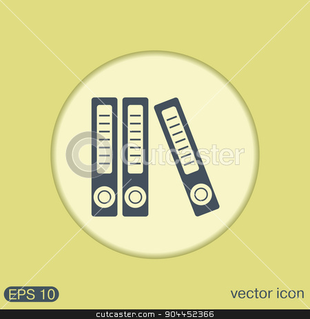 office folders with papers and documents, Archives folder icon stock vector clipart, office folders with papers and documents, Archives folder icon by LittleCuckoo
