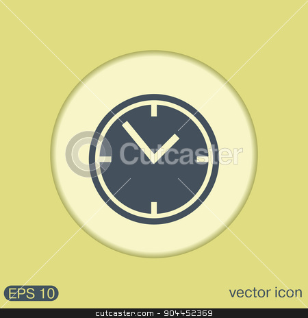 clock watches icon stock vector clipart, clock watches icon by LittleCuckoo