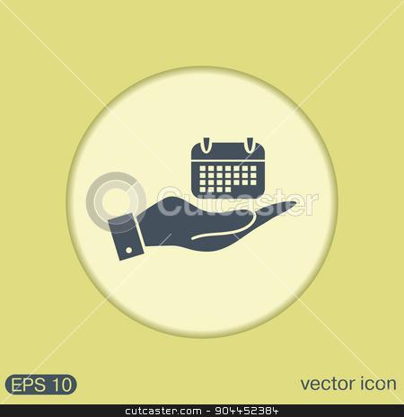 hand holding a calendar stock vector clipart, hand holding a calendar sign by LittleCuckoo