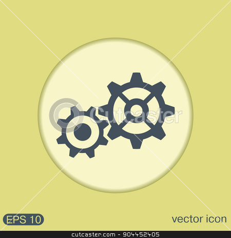 cogwheel, icon setting and repair, symbol settings.  stock vector clipart, cogwheel, icon setting and repair, symbol settings.  by LittleCuckoo
