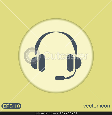 customer support, headphone icon stock vector clipart, headphone icon. help sign, customer support avatar by LittleCuckoo