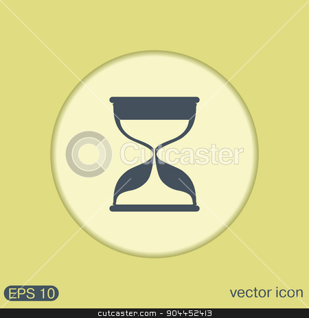 hourglass waiting, icon expectations stock vector clipart, hourglass waiting, icon expectations by LittleCuckoo