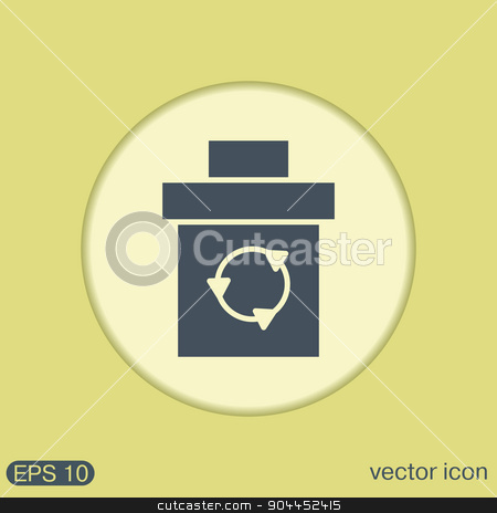 basket garbage stock vector clipart, basket garbage, recycling by LittleCuckoo