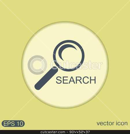 magnifier search stock vector clipart, magnifier search by LittleCuckoo