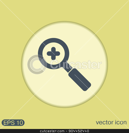 magnifier increase stock vector clipart, magnifier increase by LittleCuckoo