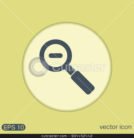 magnifier reduction stock vector clipart, magnifier reduction by LittleCuckoo