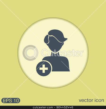 add friend avatar stock vector clipart, add friend avatar icon. man avatar by LittleCuckoo