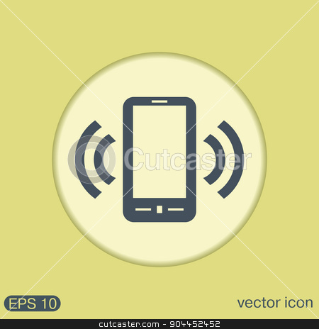 ringing phone, the call. stock vector clipart, ringing phone, the call. by LittleCuckoo