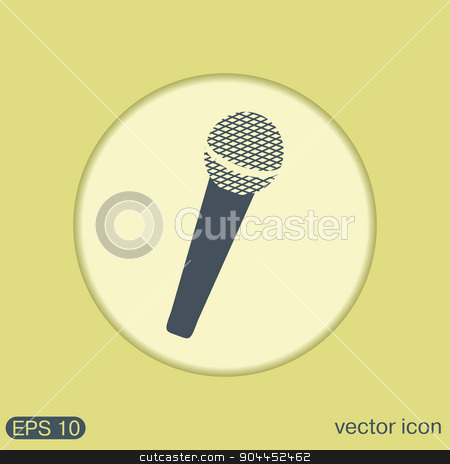 microphone. musical symbol singing. pop sign stock vector clipart, microphone sign. musical symbol singing. pop sign by LittleCuckoo