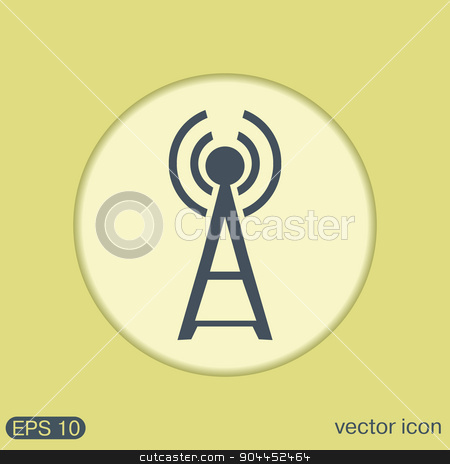 Tower wi-fi stock vector clipart, Tower wi-fi by LittleCuckoo