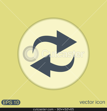 update arrow. stock vector clipart, update arrow sign by LittleCuckoo