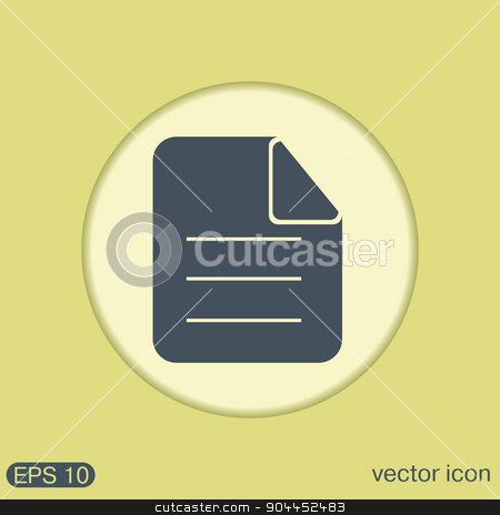 page of the document. stock vector clipart, page of the document. sheet of paper by LittleCuckoo