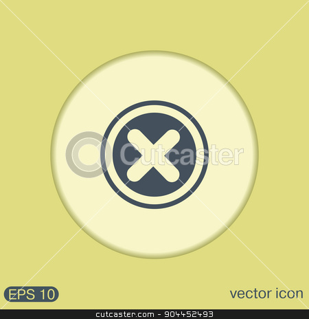 erase character. stock vector clipart, erase character sign. by LittleCuckoo
