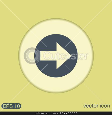 web arrow stock vector clipart, web arrow symbol by LittleCuckoo