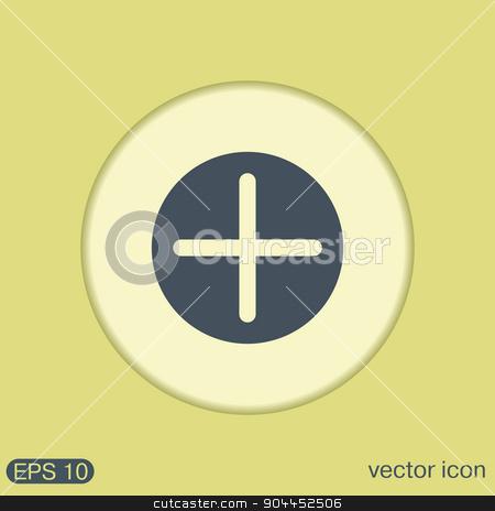 Plus sign icon. Positive symbol. stock vector clipart, Plus sign icon. Positive symbol. by LittleCuckoo
