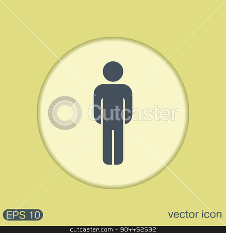 silhouette of a man stock vector clipart, silhouette of a man by LittleCuckoo