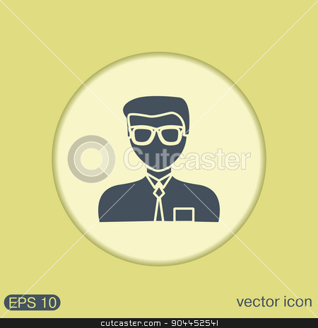 A male avatar. Picture a man. Manager or an office worker stock vector clipart, A male avatar. Picture a man. Manager or an office worker by LittleCuckoo