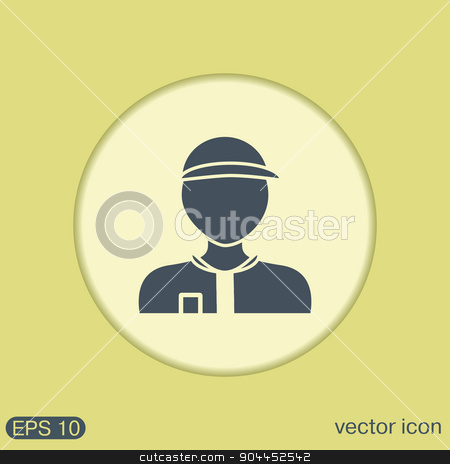 A male avatar. Picture a man. icon image Man wearing a cap. worker or employee stock vector clipart, A male avatar. Picture a man. icon image Man wearing a cap. worker or employee by LittleCuckoo