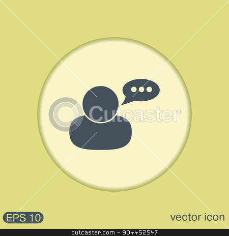 character avatar dialogue. stock vector clipart, character avatar dialogue sign. man speak icon by LittleCuckoo