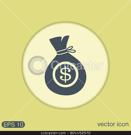 bag of money. stock vector clipart, bag of money. by LittleCuckoo