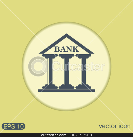 bank building. stock vector clipart, bank building. by LittleCuckoo