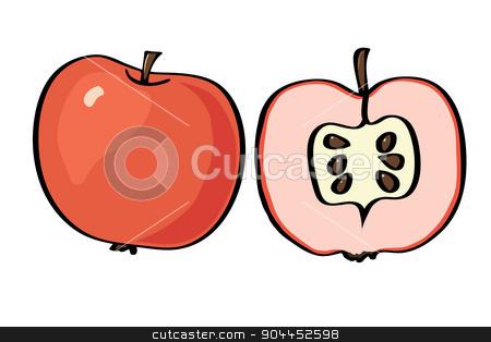 Vector illustration apple on a white background.  stock vector clipart, Vector illustration apple on a white background. Food element for your design. by Aleksandra Serova