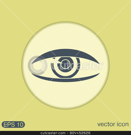 Eye icon stock vector clipart, Eye icon by LittleCuckoo