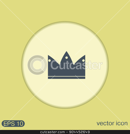 crown icon stock vector clipart, crown icon by LittleCuckoo
