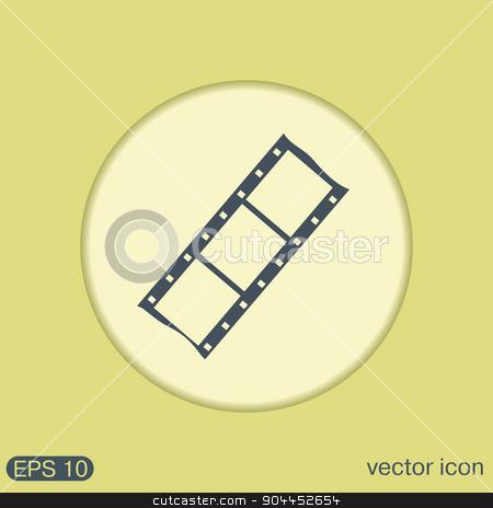 film sign. symbol of cinema, celluloid stock vector clipart, film sign. symbol of cinema. celluloid by LittleCuckoo