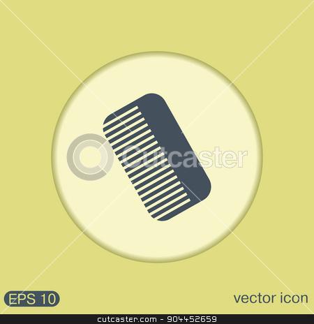comb. barbershop. symbol of hair and beauty salon stock vector clipart, comb sign. barbershop. symbol of hair and beauty salon by LittleCuckoo