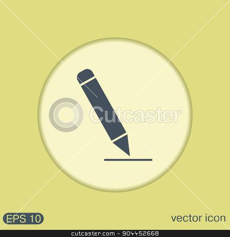 pen or pencil writing on a sheet. stock vector clipart, pen or pencil writing on a sheet by LittleCuckoo