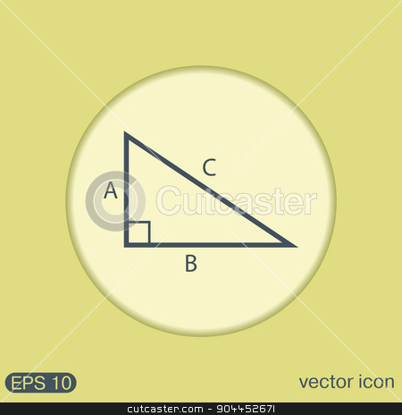 triangle math. symbol icon geometry. learning math stock vector clipart, triangle math icon. symbol icon geometry. learning math by LittleCuckoo