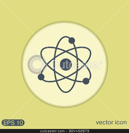 atom, molecule. symbol icon of physics or chemistry stock vector clipart, atom, molecule. the symbol of physics and chemistry. symbol icon of physics or chemistry . the study of science by LittleCuckoo