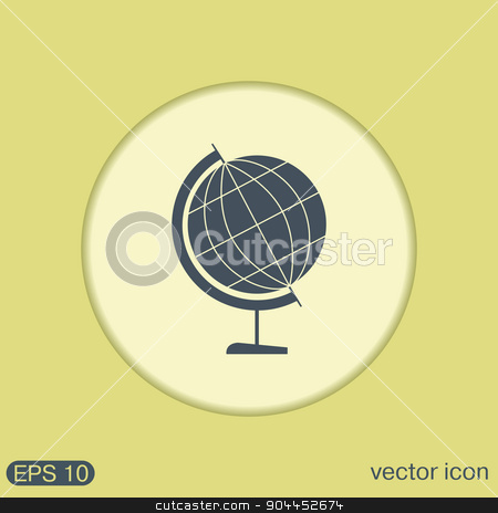 globe. symbol icon geography stock vector clipart, globe symbol of geography. symbol icon geography , the study of the world and the countries on the planet Earth by LittleCuckoo