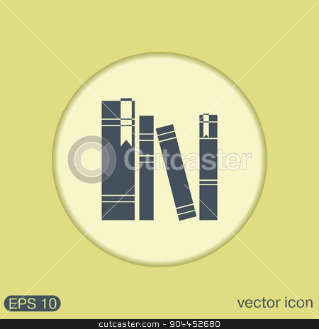 book spine. spines of books.  stock vector clipart, book spine, spines of books. icon symbol of a science and literature by LittleCuckoo