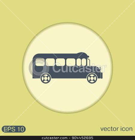 School bus. Symbol study. Icon transport stock vector clipart, School bus. Symbol study. Icon transport by LittleCuckoo