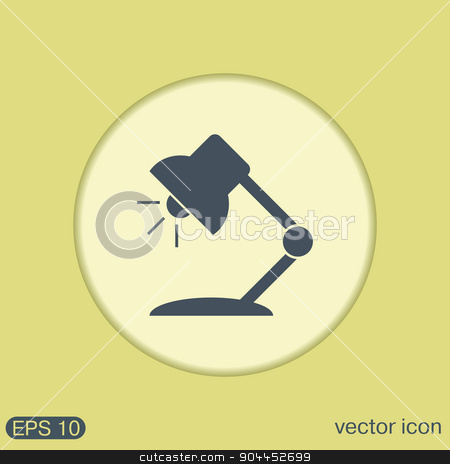 Table lamp. Symbol office or school. stock vector clipart, Table lamp. Symbol office or school. by LittleCuckoo