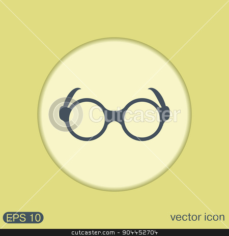 Glasses stock vector clipart, Glasses icon by LittleCuckoo