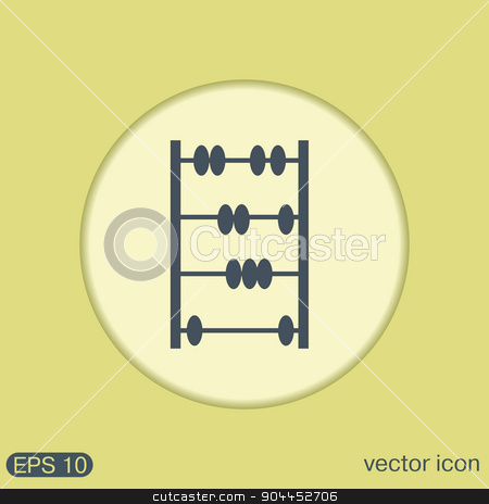 old retro abacus icon stock vector clipart, old retro abacus icon. math sign by LittleCuckoo