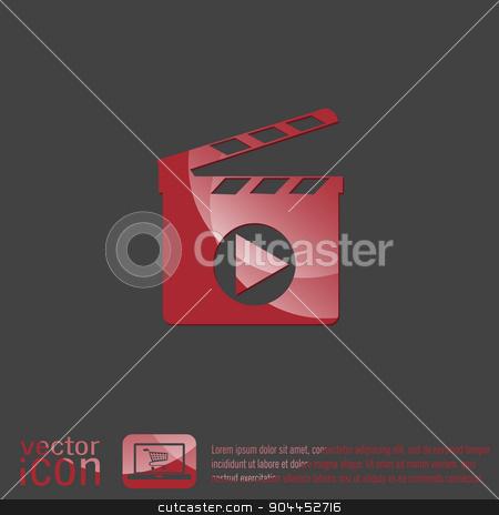 Slate Board. symbol of cinema. stock vector clipart, Slate Board sign. symbol of cinema. by LittleCuckoo