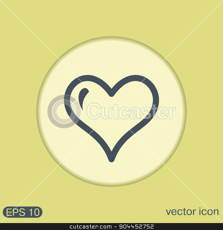heart symbol stock vector clipart, heart icon sign.  valentine icon by LittleCuckoo
